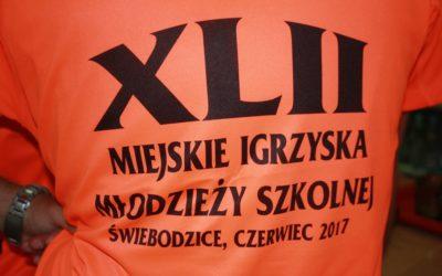 XLII Miejskie Igrzyska Młodzieży Szkolnej.